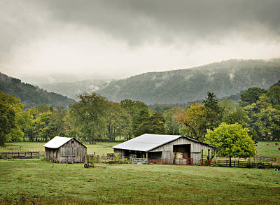1209-1116 - Boxley Valley Barn Poster by Randy Forrester