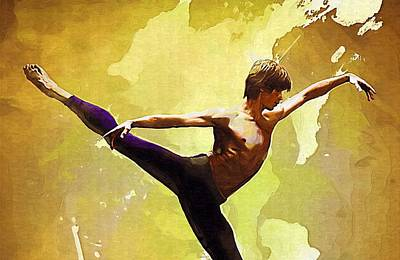 Dance. Poster by Elena Kosvincheva