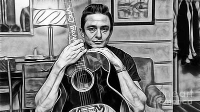 Johnny Cash Collection Poster by Marvin Blaine