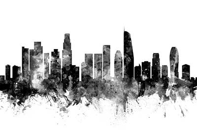 Los Angeles California Skyline Poster
