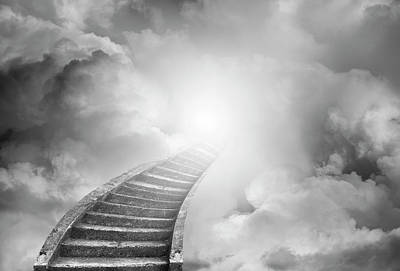 Poster featuring the photograph Stairway To Heaven by Les Cunliffe