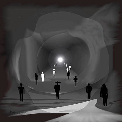 1308 - Light At The End Of The Tunnel Poster by Irmgard Schoendorf Welch