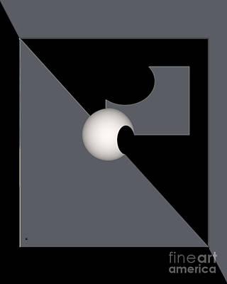 Poster featuring the digital art 1354-2  2017 by John Krakora