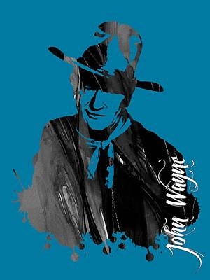 John Wayne Collection Poster by Marvin Blaine