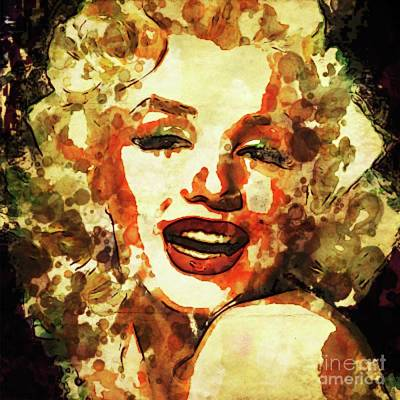 Marilyn Monroe Vintage Hollywood Actress Poster by Mary Bassett