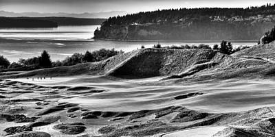 #14 Panorama - Chambers Bay Golf Course Poster by David Patterson
