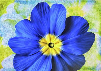 Blue Primrose Poster