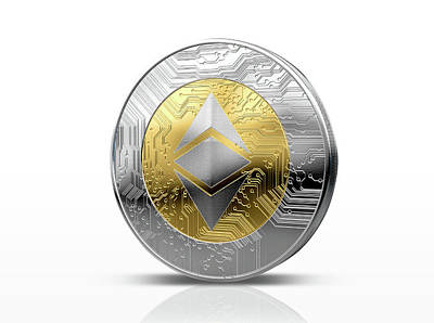 Cryptocurrency Physical Coin Poster