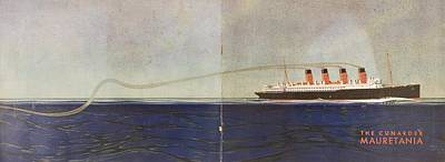 Cunard Line Promotional Brochure For Poster by Vintage Design Pics
