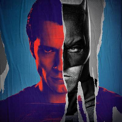 Batman V Superman Dawn Of Justice 2016 Poster by Unknown