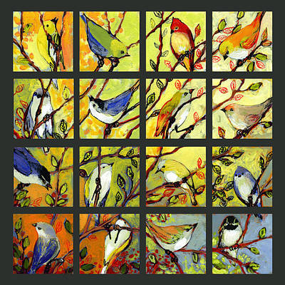 16 Birds Poster by Jennifer Lommers