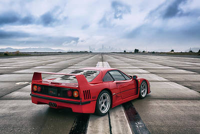 Poster featuring the photograph #ferrari #f40 #print by ItzKirb Photography