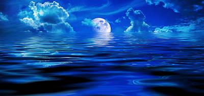 Heavens Waves - Sri Yantra Poster by Sir Josef - Social Critic - ART