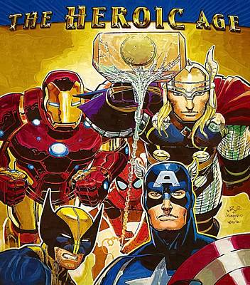 Marvel Superhero Poster by Egor Vysockiy
