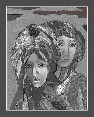 Poster featuring the digital art 1667 - The Sisters by Irmgard Schoendorf Welch