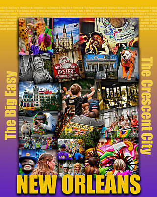16x20 New Orleans Poster Poster by Jim Albritton