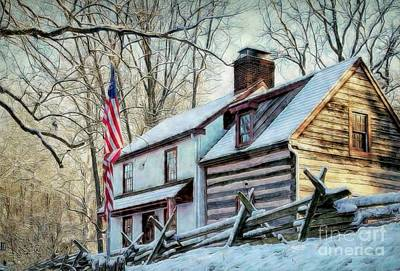 1700's Log House In West Chester, Pa Poster
