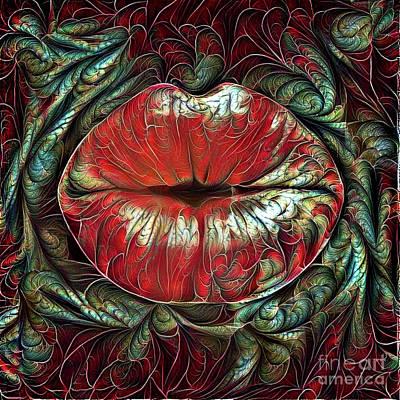 Kissing Lips Poster