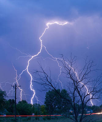 17th Street Lightning Strike Fine Art Photo Poster by James BO  Insogna