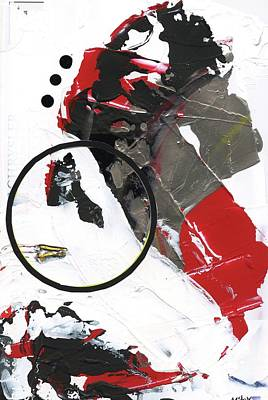 Poster featuring the painting Three Color Palette by Michal Mitak Mahgerefteh