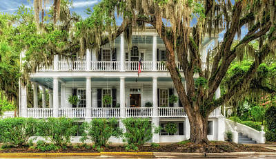 Poster featuring the photograph 1820 Historic Bed And Breakfast South Carolina  -  013-6178 by Frank J Benz