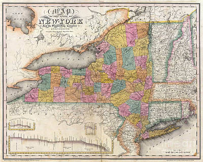 1832 New York Map Poster