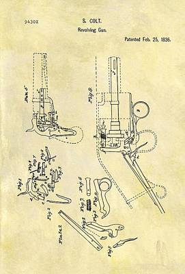 1836 Colt Revolver Patent Poster by Dan Sproul