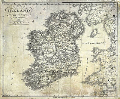 1841 Ireland Map Poster