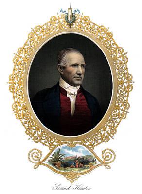 1850 Sam Houston  Poster