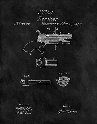 1857 Colt Revolver Patent Poster by Dan Sproul