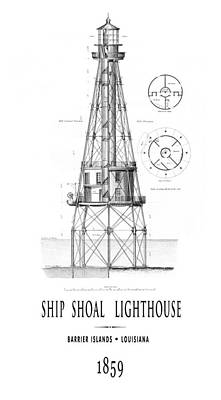 1859 Ship Shoal Lighthouse - Louisiana Poster