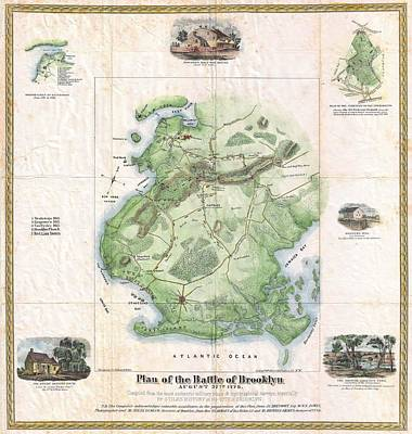 1867 Stiles Map Of Brooklyn New York City New York  Poster