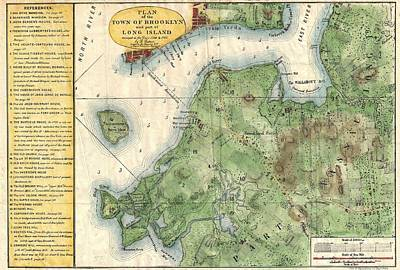 1867 Stiles Map Of Brooklyn New York Poster
