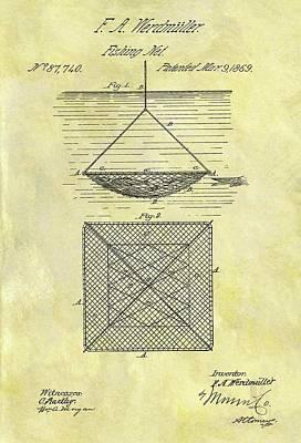 1869 Fishing Net Patent Poster