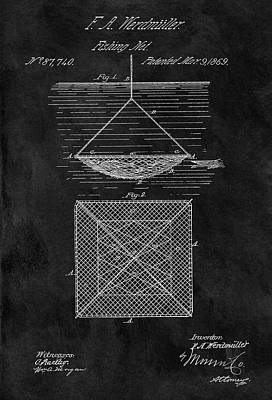 1869 Fishnet Patent Poster by Dan Sproul