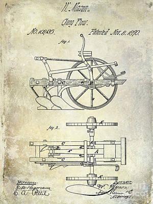 1870 Plow Patent Poster by Jon Neidert