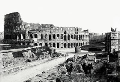 Poster featuring the photograph 1870 The Colosseum Of Rome Italy by Historic Image