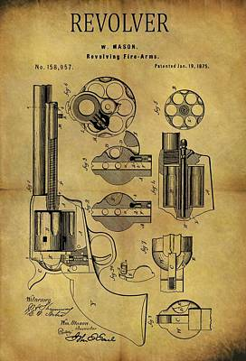 1875 Revolver Patent Poster by Dan Sproul