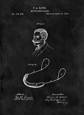 1876 Mustache Guard Poster by Dan Sproul