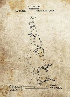 1878 Microscope Patent Poster