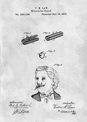 1879 Mustache Guard Patent Poster by Dan Sproul