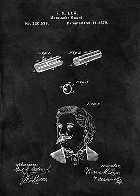 1879 Mustache Patent Poster by Dan Sproul