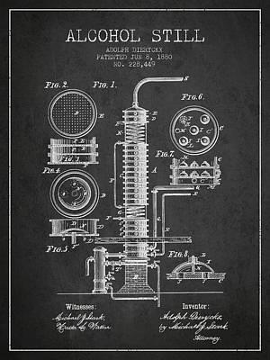 1880 Alcohol Still Patent Fb81_cg Poster