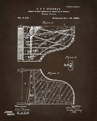 1880 Steinway Piano Forte Patent Espresso Poster