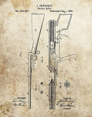 1881 Parlor Rifle Patent Poster by Dan Sproul