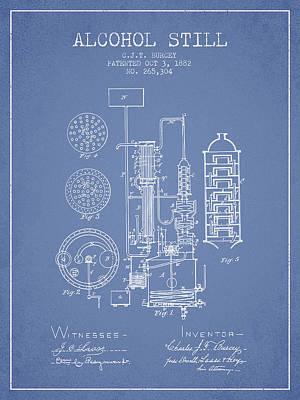 1882 Alcohol Still Patent Fb80_lb Poster