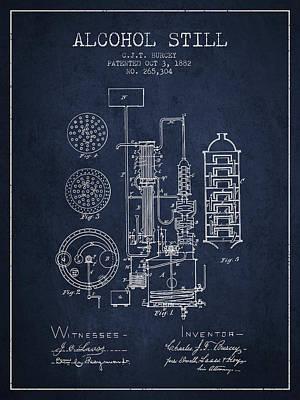1882 Alcohol Still Patent Fb80_nb Poster
