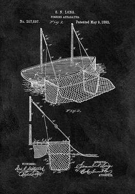 1882 Fishnet Patent Poster by Dan Sproul