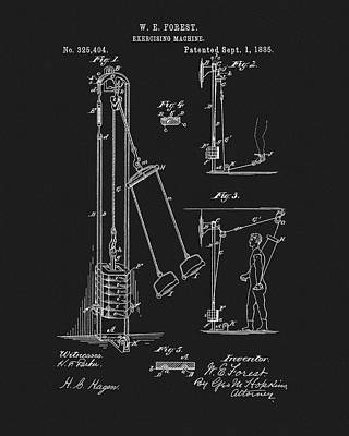1885 Exercise Apparatus Poster by Dan Sproul