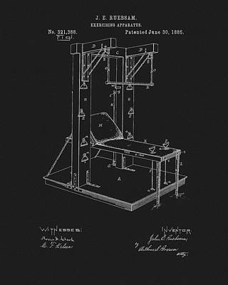 1885 Exercise Apparatus Equipment Poster by Dan Sproul